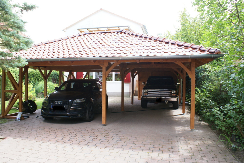 carport xxl f r 3 pkw und ger tehaus zimmerei arno bl mel ihr partner wenn es um. Black Bedroom Furniture Sets. Home Design Ideas